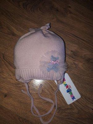 Шапка Шапка детская утеплитель синтепон. цвет пудровый.