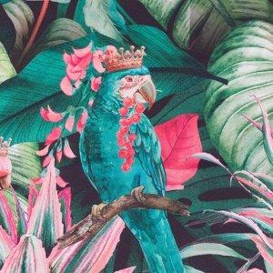 """Комплект штор д/кухни с подхватами Этель""""Tropical parrots"""" 145х180см-2 шт.. 100% п/э"""