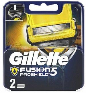 GILLETTE FUSION ProShield Сменные кассеты для бритвы 2шт
