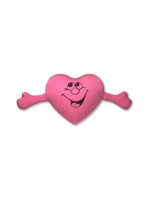 """Антистрессовая подушка """"Сердце с руками""""(розовый)"""