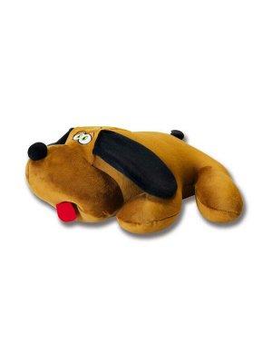 """Антистрессовая игрушка """"Собака Джой"""" велюр средний (коричневый)"""