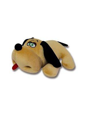 """Антистрессовая игрушка """"Собака Джой"""" велюр средний (бежевый)"""