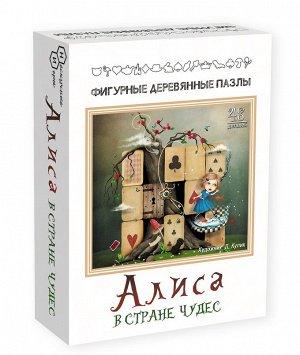 """Фигурный деревянный пазл """"Алиса в стране чудес"""" (малая) арт.8172 (мрц 399 руб.) /48"""