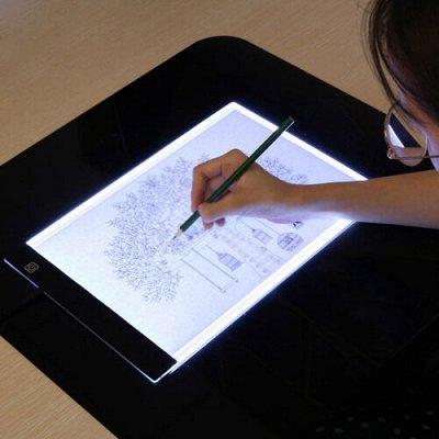 Картины по номерам, Алмазная мозаика.👍Новинки!  — Световой планшет А4 для копирования — Фурнитура и инструменты