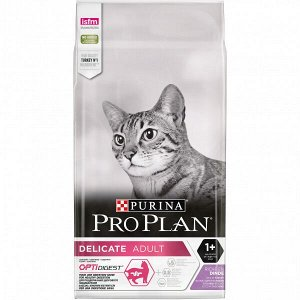 Pro Plan Delicate Optidigest сухой корм для кошек с чувствительным пищеварением Индейка 3кг