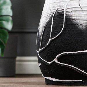 """Ваза напольная """"Осень"""" белая. акрил. 60 см. керамика"""