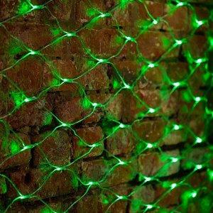Светодиодная LED гирлянда Сетка 3*2 м. Зеленое свечение