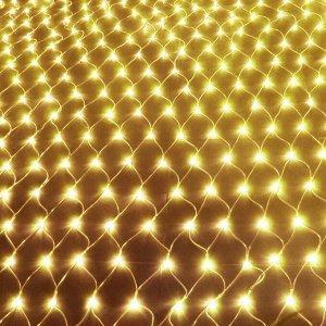 Светодиодная LED гирлянда Сетка 3*2 м. Золотое свечение