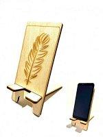 Деревянная подставка? для телефона Перо