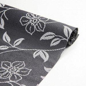 Коврик противоскользящий сервировочный Доляна «Вьющиеся цветы», 45?100 см, цвет серый