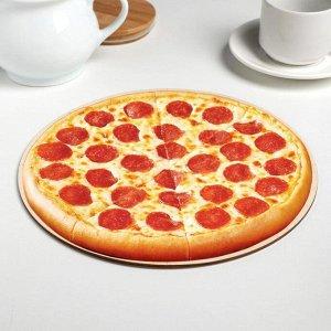 Подложка Pizza time 26 см, дерево,  0,3 см