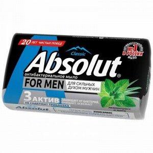 """Мыло туалетное твердое """"Absolut"""" """"For men"""" 90г, лемонграсс и"""