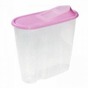 Банка для сыпучих продуктов пластмассовая 1,5л, 9х19х17см (