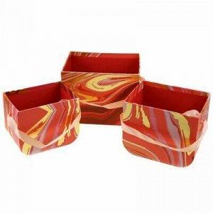 Коробка подарочная для цветов набор 3 штуки: 12,5х9х10см; 14