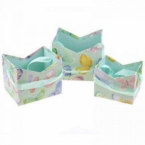 Коробка подарочная для цветов набор 3 штуки: 12х10х10см; 14.
