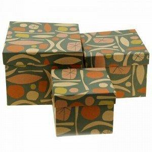 Коробка подарочная набор 3 штуки: 11,5х11,5х9см; 14х14х11см;