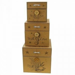 Коробка подарочная набор 3 штуки: 12х12х12см; 15х15х15см; 18