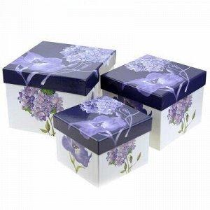 Коробка подарочная, набор 3 штуки: 11,5х11,5х9см; 14х14х11см
