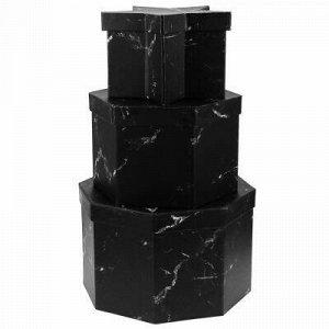Коробка подарочная, набор 3 штуки: 17х17х11см; 18х18х13; 23х