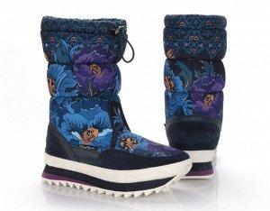 king boots Верх: Нейлон с водоотталкивающим слоем waterproof/Натуральная замша Подклад: Искусственный мех Подошва: ЭВА, резина/шнуровка
