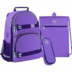 Набор рюкзак + пенал + сумка для обуви WK 702 фиолетовый