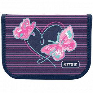 Пенал Kite 1 отд., 2 отв., без наполнения 622 Butterflies