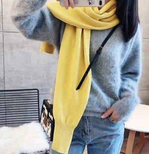 Женский шарф-болеро, цвет желтый
