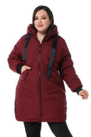 Куртка Материал: Болоньевая ткань;  Фасон: Куртка; Длина рукава: Длинный рукав; Параметры модели: Рост 168 см, Размер 54 Куртка с капюшоном с кнопками по бокам бордо Утепленная куртка прекрасно подойд