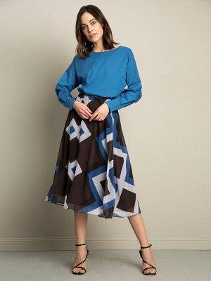 Юбка Состав ткани: Полиэстер 100% Длина: 72 См. Описание модели Шифоновая юбка А-силуэта и длины миди с многоцветным геометрическим принтом. Стильная модель на резинке подойдёт для офиса вместе с лако