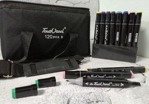 Набор двухсторонних скетч-фломастеров Touchcool 120 цветов в сумке