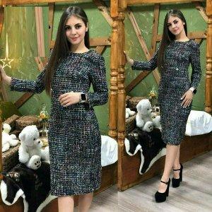 Платье Ткань : Букле