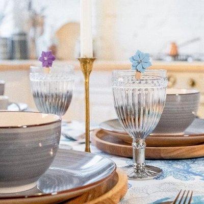 Посуда . Сервировка стола  — Текстиль. Текстиль для кухни. Маркеры для бокалов — Посуда