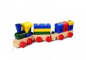 Поезд-конструктор большой  Буратино