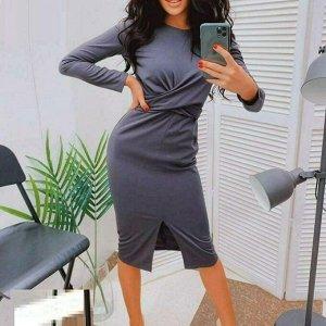 Платье Ткань трикотаж Длина 100 см разрез 28