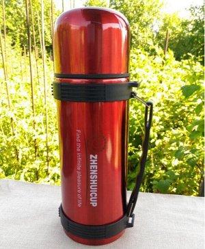 Термос Металлический термос для любителей горячих напитков собой. Колба металлическая. Объём 1200мл