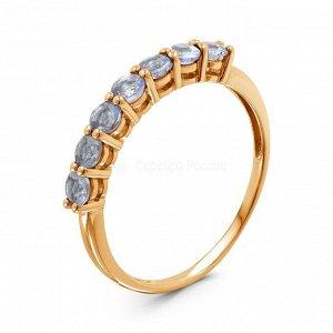 Кольцо из золочёного серебра с нат.танзанитом К-7208зс464