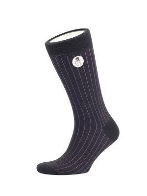 Носки мужские двубортные, вертикальная полоска Elit