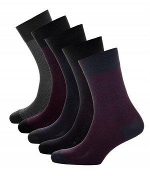 Носки мужские точки полоски Classic * Набор из 5 пар