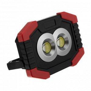Прожектор светодиодный автономный Ritter, 2х3 Вт COB+1 Вт LED, 3xAA, 300 Лм + 80 Лм, IP44