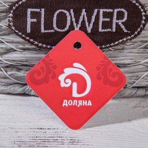 Кашпо плетеное «Луция». 30?18.5?18 см. корзинка. цвет серый