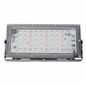 Прожектор светодиодный модульный Luazon Lighting, RGBW, с пультом, 45Вт, IP65, 220В Черный