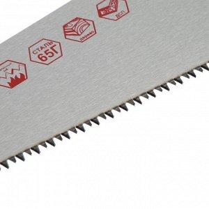 Ножовка по дереву ON 03-01-203, 3-х сторонняя заточка, закаленный зуб 5 мм, 450 мм