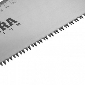 Ножовка по дереву TUNDRA, 2К рукоятка, 3D заточка, каленый зуб, 7-8 TPI, 500 мм