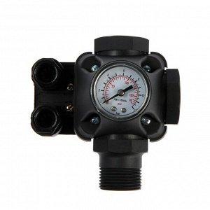 "Реле давления TIM PS-04A, 1"", с манометром, рабочий диапазон 1- 5 бар"