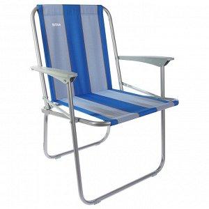 Кресло складное КС4, 57,5 х 61,5 х 74 см, синие полоски