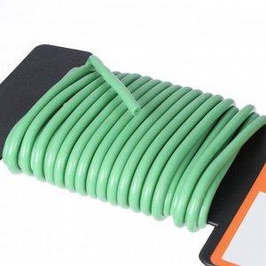 Проволока для подвязки растений, мягкая, 5 м, d = 4 мм, зелёная