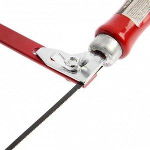"""Лобзик ручной школьный """"КУРС"""" 41030, 125х275 мм, инструментальная сталь, деревянная рукоятка"""