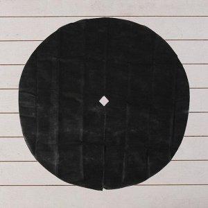 Круг приствольный, d = 1,2 м, плотность 60 г/м?, спанбонд с УФ-стабилизатором, набор 5 шт., чёрный, «Агротекс»