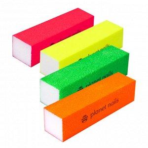 Баф для ногтей цветной 100/120 грит Planet Nails