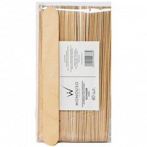 Шпатели одноразовые деревянные большие 24х200 мм ItalWax 60 шт/уп